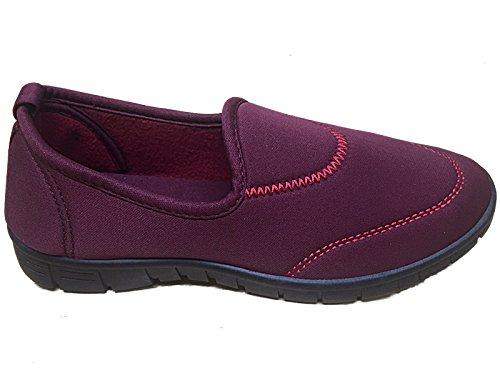 Size Surf 8 Go Shoes Pumps Sports Flexi Holiday Casual Ladies Walk 4 Comfort Burgundy Plimsoll Trainer 1q5F7nx6R