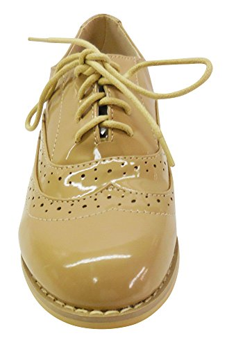 Marilyn Moda Womens HPB001 Wingtip Perforated Dress Oxfords Taupe Wm04swWBh