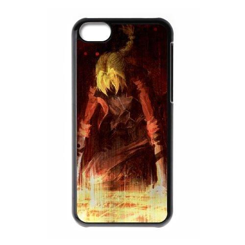 U3L88 Fullmetal Alchemist K7N2OO cas d'coque iPhone de téléphone cellulaire 5c couvercle coque noire DN2KHI6YG