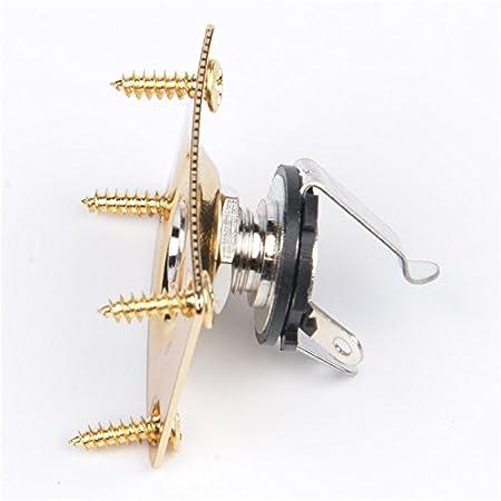 Amazon.com: Guitar Bass Jack Plate / Jack socket, Rectangular Dented, Metal and 1/4