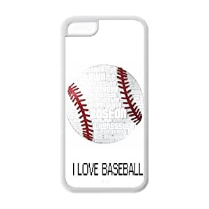Unique Design Baseball Pattern Hard Back Case Cover Shell for IPhone 5C