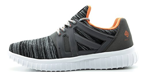 Droomparen Mens Pilot-m Atletische Hardloopschoenen Sneakers Donkergrijs Oranje