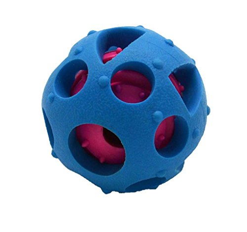 ,Dog toys ball and treat dispensing for small/middles size(under 30lbs) dogs/cats/ and pigs Funny Dog Puzzle and Dog Toys for Boredom and Thinking ()
