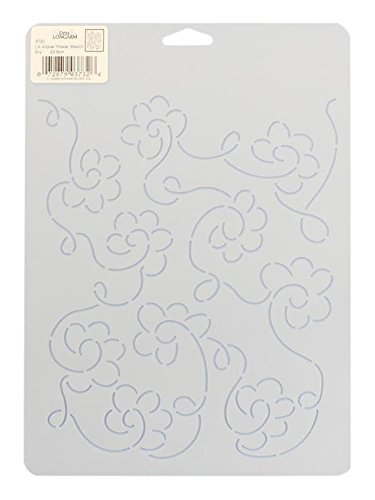 Dritz Notions DRI3732 Quilting Stencil Longarm Allover Flowr 9.25 Longarm Stencil Allover Flower Prym Consumer USA Inc