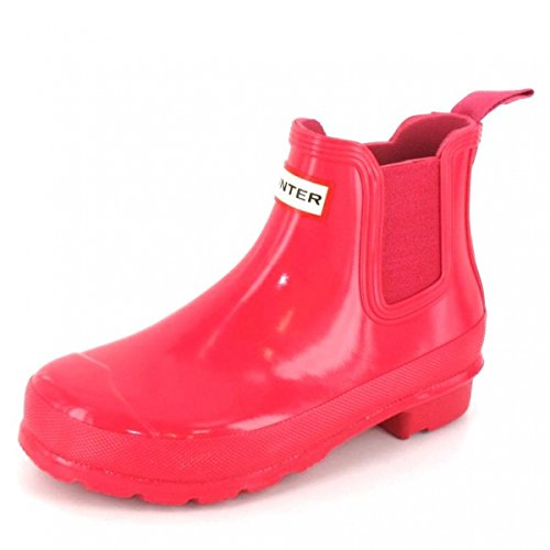Hunter Womens Original Chelsea Boots Gloss Bright Pink