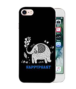 ColorKing Apple iPhone 8 Case Shell Cover - Happyphant Multi Color