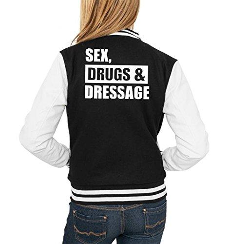 Sex Drugs & Dressage College Vest Girls Black Certified Freak-M