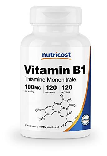 Nutricost Vitamin B1 (Thiamine) 100mg, 120 Capsules – Gluten Free and Non-GMO