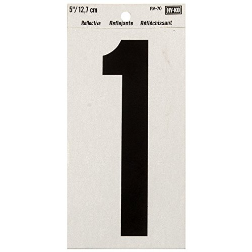 """Hyko Products Co 20404752 Numbering Reflective Vinyl 5"""" (#1) - Black On Silver from HyKo Products Co (FLHWR)"""