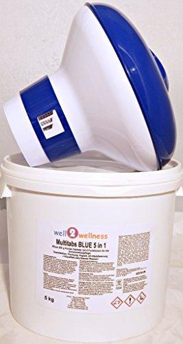 Chlor Multitabs Blue 5 in 1 / Blaue Multitabs 5 in 1 200g, 5,0 kg plus Dosierer