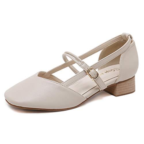 Chaussures Polyvalente Abricot La Bout Femmes Boucle Rétro Avec Hrcxue Pour Des Mode Rond Tête À Ronde z7pHqx