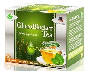 GlucoBlocker Gymnema Green Tea - Clinically Proven for Diabetes Blood Sugar Control, 20 Bags ()