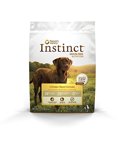 Instinct Original Grain Free Chicken Meal Formula Natural Dry Dog Food by Nature's Variety, 13.2 lb. Bag Prairie Chicken Meal