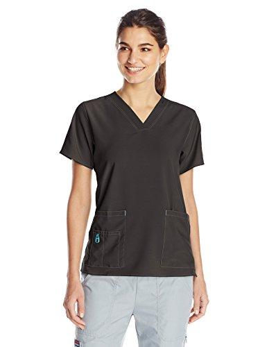 Carhartt Women's Cross-Flex Media Scrub Top, Black, XX-Large