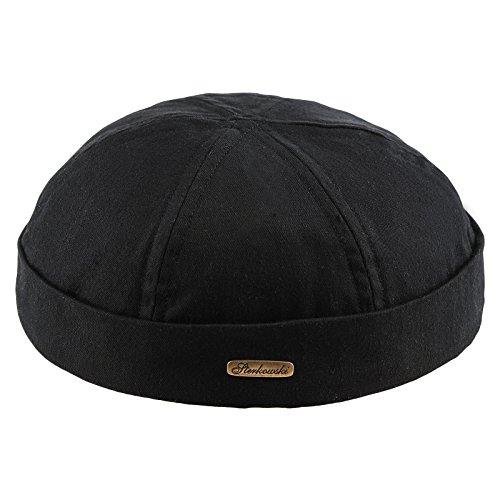 Sterkowski Docker Leon Beanie Cap Pure Cotton US 7 3/8 Black