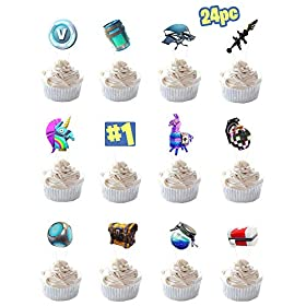 Party Hive 24pc Gaming Cupcake Toppers for Birthday Party Event Decor
