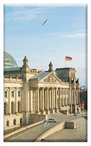 Single-Gang Blank Wall Plate Cover - Architecture Travel City Sky Building Reichstag