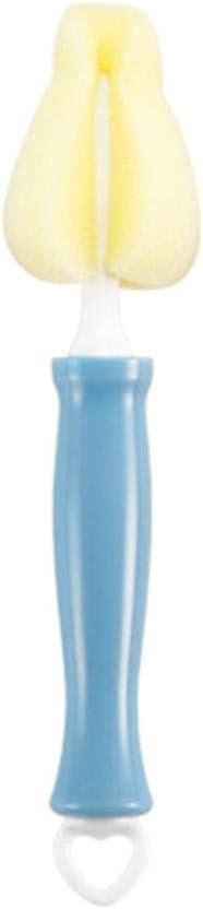 Biberón Cepillo Limpiador 360 Grados Leche del bebé Botella de alimentación del pezón Beber cepillos de Lavado de Limpieza de Silicona Copa del depurador, BlueC ZHNGHENG (Color : Bluec)