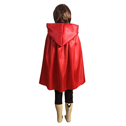 Unisex-child Halloween Costumes Wizard Cloak God of Death Cape Witches Cos Robes (Large, red) (Devil Robe Child Costume)
