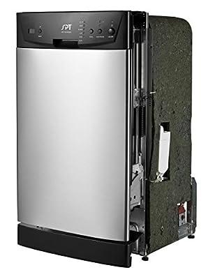 "SPT SD-9252SS Energy Star 18"" Built-In Dishwasher, Stainless Steel"
