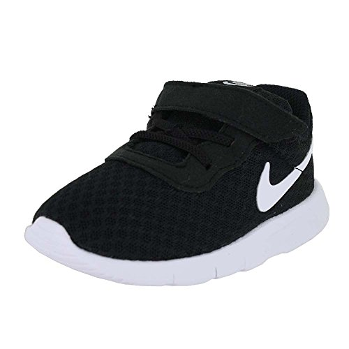 NIKE Boy's Tanjun (TDV) Running Shoes (10 M US Toddler, Black/White-White) (Nike Kids Shoes Size 10)