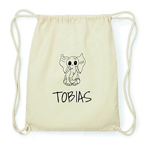 JOllipets TOBIAS Hipster Turnbeutel Tasche Rucksack aus Baumwolle Design: Elefant ZldRo