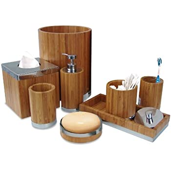 Perfect Nu Steel Ageless Collection Bathroom Accessories Set ,8 Piece