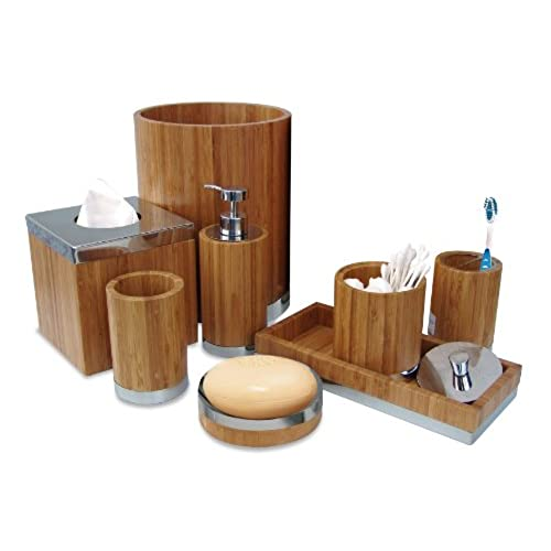 wood bath accessories