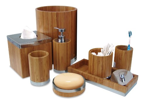 amazoncom nu steel ageless collection bathroom accessories set 8 piece home kitchen - Bathroom Accessories Dubai