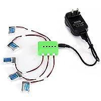 5Pcs 3.7V 150mAh Li-po Battery and Charging Cable Set for JJRC H20 RC Quadcopter