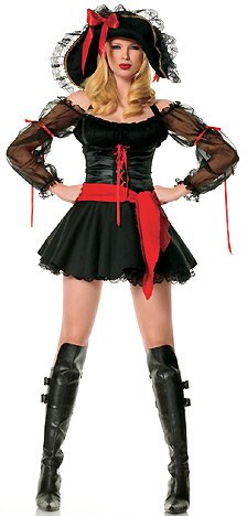 2Pc-Sexy-Swashbuckler-Include-Mesh-Sleeved-Peasant-Top-Dress-And-Sash