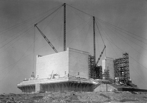 1915 photo LINCOLN MEMORIAL. UNDER CONSTRUCTION Vintage Black & White Photogr (Lincoln Memorial Photo)