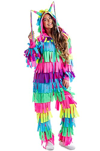 Tipsy Elves Funny Pinata Costume for Halloween - Adult Pinata Outfit Jumpsuit Onesie: Small