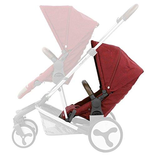 BabyStyle Hybrid Tandem Seat, Lava Red Baby Style UK HYTSLA