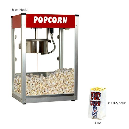 Paragon Thrifty Pop Pop 8 Ounce Popcorn Machine for Professional Concessionaires Requiring Commercial Quality High Output Popcorn Equipment