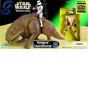 Star Wars Power Of The Force Beast Pack Dewback   Sandtrooper Action Figures