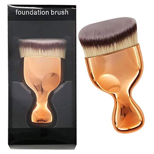 CACASO Kabuki Foundation Brush, Flat Top Powder Makeup Brush, Premium Quality Synthetic Dense Bristles Face Make Up Tool For Blending Liquid Cream or Flawless Powder Cosmetics - Buffing, Stippling