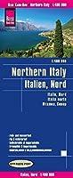Italia Norte Mapa Impermeable De Carreteras.