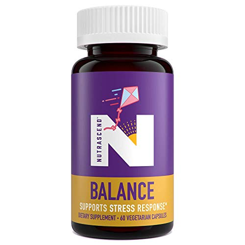 Nutrascend BALANCE - Healthy Stress Response and Calm Mood Herbal Supplement - Ashwagandha, St. John's Wort, Bacopa, Rhodiola, L-Theanine, Passion Flower - 1325mg - 60 Veggie Capsules (30 Day Supply)