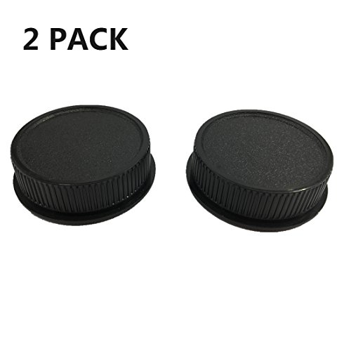 (LXH New Plastic M42 42mm Screw Mount Camera Front Body Cap & Rear Lens Cap Cover Black for Leica M42 thread Lens (2 Packs))