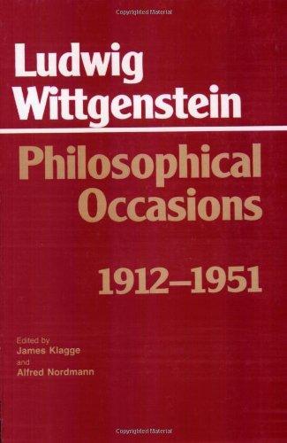 Philosophical Occasions: 1912-1951 (Hackett Classics)