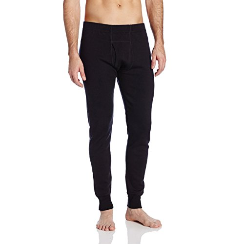 Mens Regular Merino Wool - Minus33 Merino Wool Men's Katmai EXpedition Bottom, Black, Medium