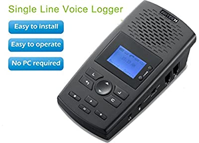 SpyGear-HPPFOTRS SD Digital Phone Call Recorder Landline Recording Device (Stand Alone Desktop Digital Phone Recorder that Stores Voice and Call Data to included 4GB SD Card) - HPPFOTRS