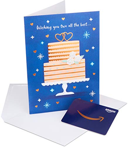 Amazon.com Gift Card in a Premium Greeting Card by American Greetings (Wedding Cake Design)