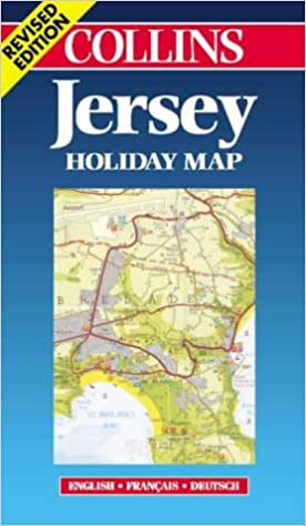 Map Of Uk Including Jersey.Jersey Holiday Map Collins Holiday Map S Amazon Co Uk