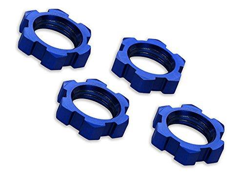 Traxxas 7758 X-Maxx Serrated, Blue-Anodized Wheel Nuts (set of (Traxxas E-maxx Rtr)