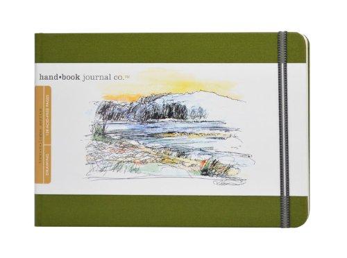 Global Art Materials Hand Trav-e-Logue Drawing Book, Large Landscape, Cadmium Green