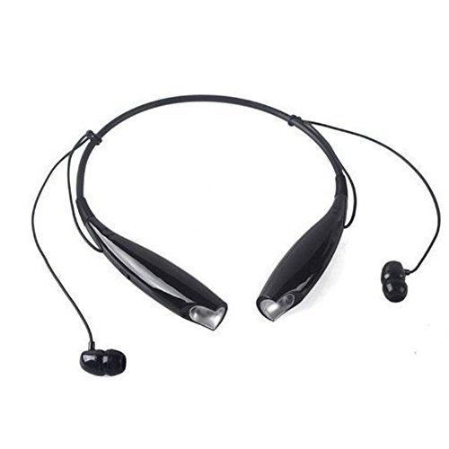 Wireless Bluetooth 3.0 Sport Stereo Headset Universal Headphone Flexible & Light Neck Band Design Hands Free Calling for iPhone 6 6s plus and Other Apple Devices and Android Cellphones (Black) (Bluetooth Jaw Headphones)