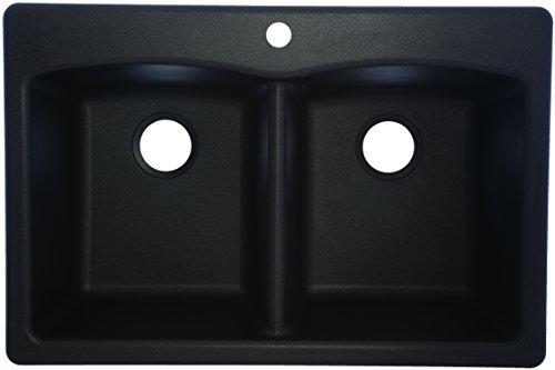 Franke EDOX33229-1 Dual Mount Granite Double Bowl Kitchen Sink, 33
