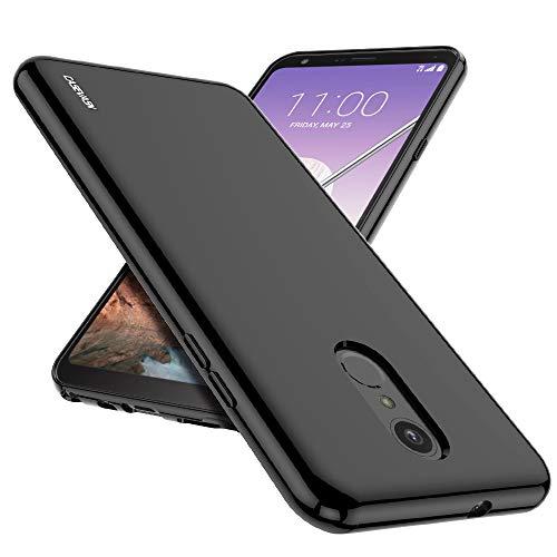 LG Stylo 4 Case, LG Q Stylus Case, CASEVASN [Slim Thin] Anti-Scratches Flexible TPU Gel Rubber Soft Skin Silicone Protective Case Cover for LG Stylo 4 / LG Q Stylus (Black)